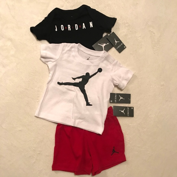 acf6ce0aafe4f9 NEW Nike Air Jordan Infant 3 Piece Set Outfit NWT